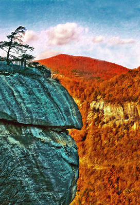Painting - Chimney Rock by Steve Karol
