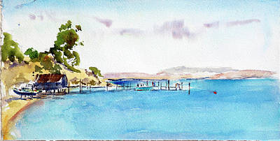 Painting - China Camp Village by Tom Simmons
