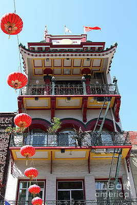Photograph - Chinatown In San Francisco California 7d7423 by San Francisco Art and Photography