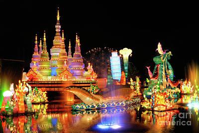 Church Display Photograph - Chinese Lantern Festival by Oleksiy Maksymenko