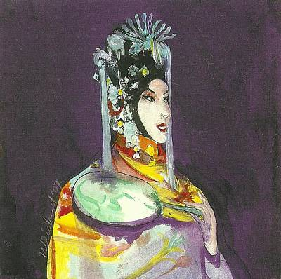 Chinese Opera Singer With Fan Original by Harry  Weisburd