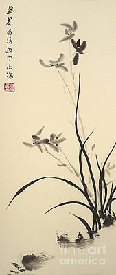 Chinese Orchid Print by Birgit Moldenhauer
