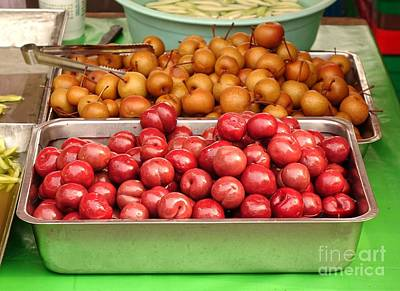 Photograph - Chinese Plums And Pears Pickled In Sugar by Yali Shi