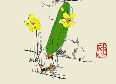 Digital Art - Chinese Squash by Debbi Saccomanno Chan