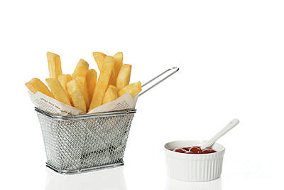 Potato Chips Photograph - Chips With Tomato Sauce by Amanda Elwell