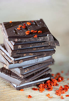 Flakes Photograph - Chocolate And Chili by Nailia Schwarz