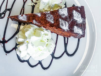 Photograph - Chocolate Cake With Cream by Benny Marty