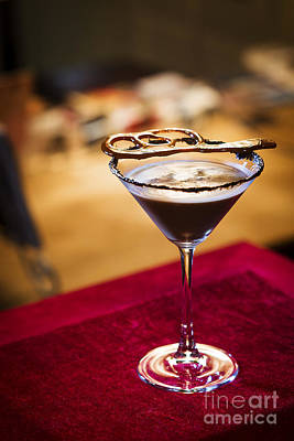 Martini Royalty-Free and Rights-Managed Images - Chocolate Martini cocktail in trendy bar by Jacek Malipan