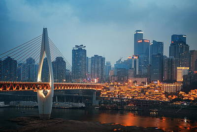 Photograph - Chongqing Bridge by Songquan Deng
