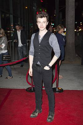 Chris Colfer At Arrivals For American Art Print by Everett