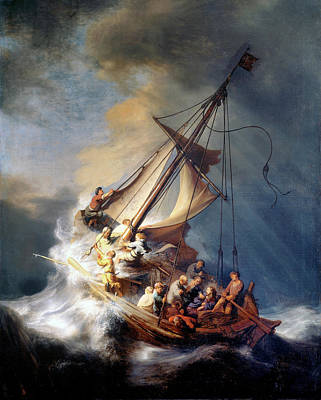 Christ And The Storm Art Print by Rembrandt