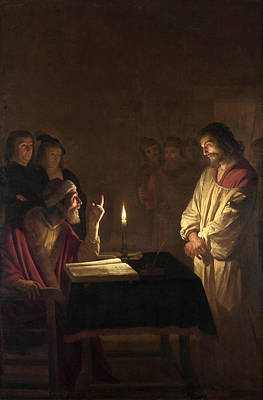 Candlelight Painting - Christ Before The High Priest by Gerard van Honthorst