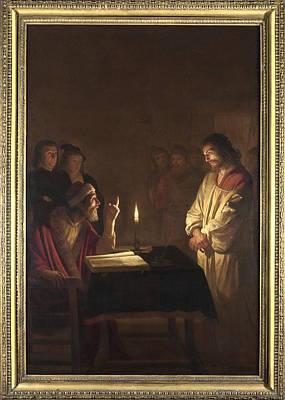 Digital Art - Christ Before The High Priest by Gerrit van Honthorst