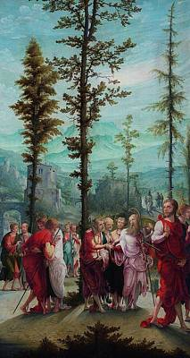 Mood Painting - Christ Bids Farewell To The Apostles by Mountain Dreams