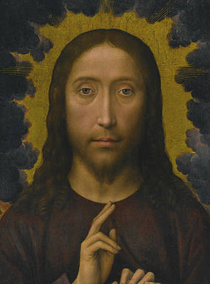 Painting - Christ Blessing by Hans Memling