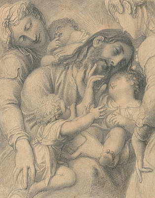 Blessings Drawing - Christ Blessing Little Children by Richard Cosway