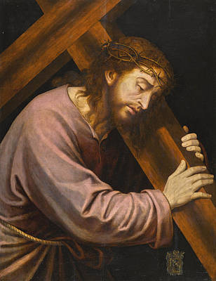 Painting - Christ Carrying The Cross by Vicente Juan Masip