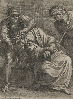 Relief - Christ Crowned With Thorns by Annibale Carracci