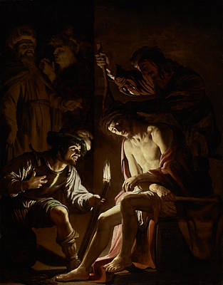 Communion Painting - Christ Crowned With Thorns by Gerrit van Honthorst