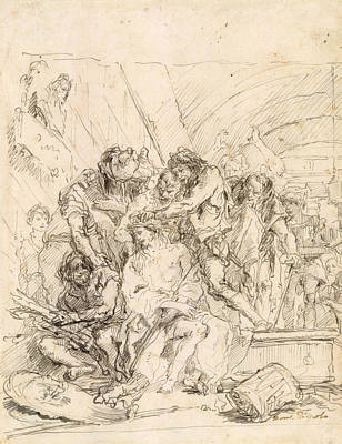 Drawing - Christ Crowned With Thorns by Giovanni Domenico Tiepolo