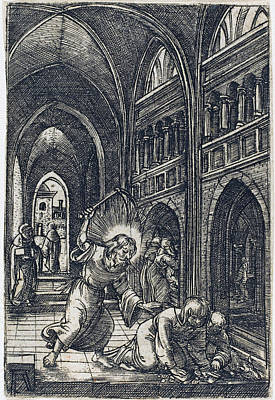 Drawing - Christ Expelling The Money Changers by Albrecht Altdorfer