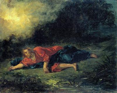 Savior Painting - Christ In Gethsemane by Eugene Delacroix