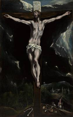 Christian Artwork Painting - Christ On The Cross by El Greco