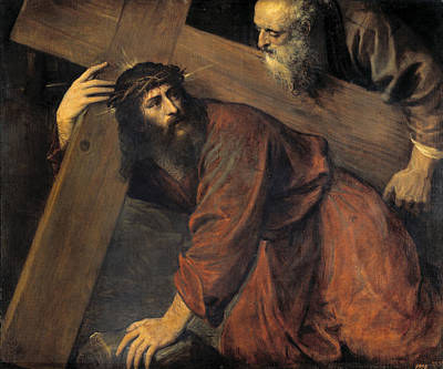 Christ On The Way To Calvary Art Print by Titian