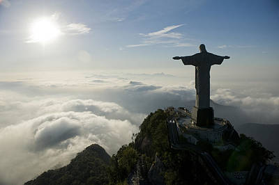 Redeemer Photograph - Christ The Redeemer Statue At Sunrise by Joel Sartore