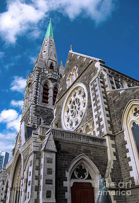 Christchurch Cathedral Art Print by Karen Lewis
