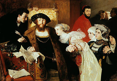 Painting - Christian II Signing The Death Warrant Of Torben Oxe by Eilif Peterssen