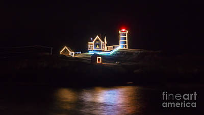 Photograph - Christmas At Cape Neddick/nubble Light. by New England Photography