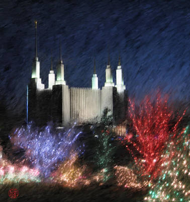 Washington D.c Digital Art - Christmas At The Temple by Geoffrey Lewis