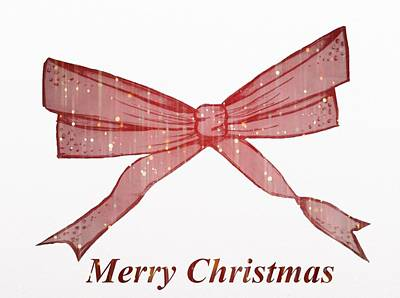 Christmas Bow Art Print by By Martine