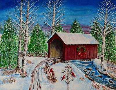 Painting - Christmas Bridge by Melvin Turner