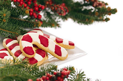 Christmas Cookies Decorated With Real Tree Branches Art Print by Ulrich Schade