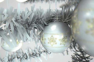 Christmas Decor White Art Print