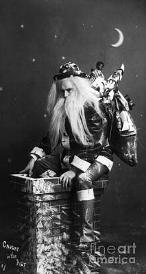Santa Claus Painting - Christmas Eve, C1900 by Granger