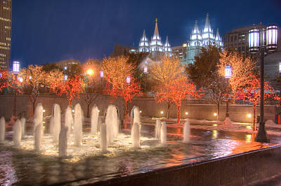 Photograph - Christmas In Salt Lake City by Utah Images