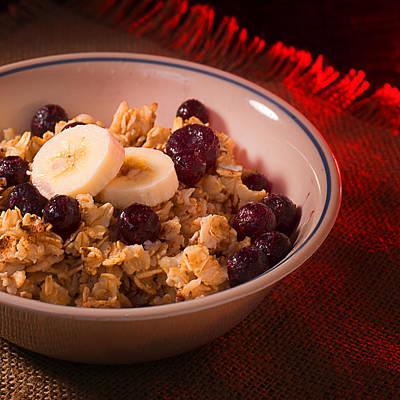Porridge Photograph - Christmas Oatmeal Breakfast by Donald Erickson
