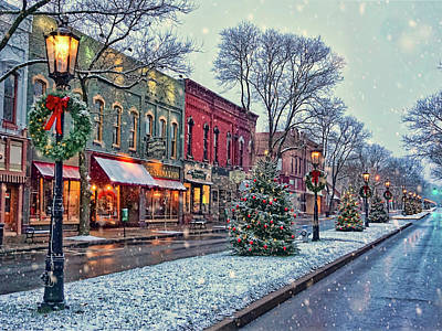 Photograph - Christmas On Main Street by Bernadette Chiaramonte