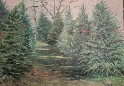 Painting - Christmas Tree Lot by Rosemary Kavanagh
