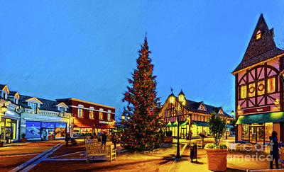 Farmhouse Royalty Free Images - Christmas tree Royalty-Free Image by Viktor Birkus