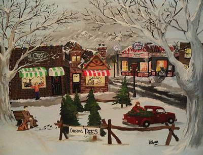 Toy Store Painting - Christmas Village by Tim Loughner