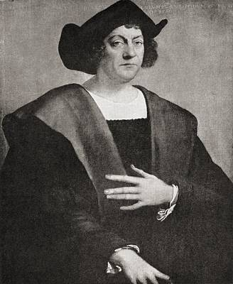 Christopher Columbus Drawing - Christopher Columbus C.1451 To 1506 by Vintage Design Pics