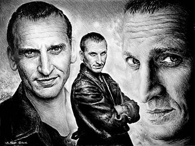 Dr. Who Wall Art - Drawing - Christopher Eccleston by Andrew Read