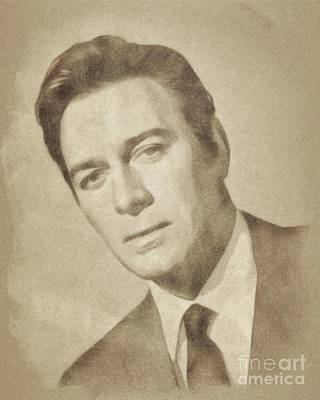 Musicians Drawings Rights Managed Images - Christopher Plummer, Vintage Actor by John Springfield Royalty-Free Image by Esoterica Art Agency
