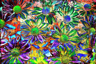 Chrysanthemums Art Print by Skip Nall