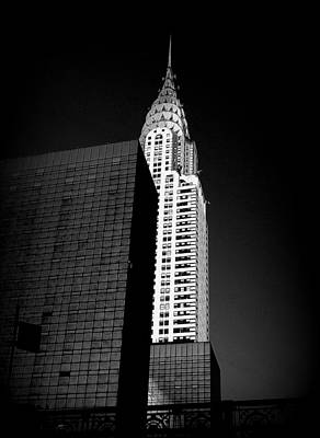 Photograph - Chrysler Noir by Linda Edgecomb