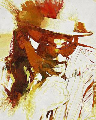 Digital Art - Chuck Brown by Lynda Payton